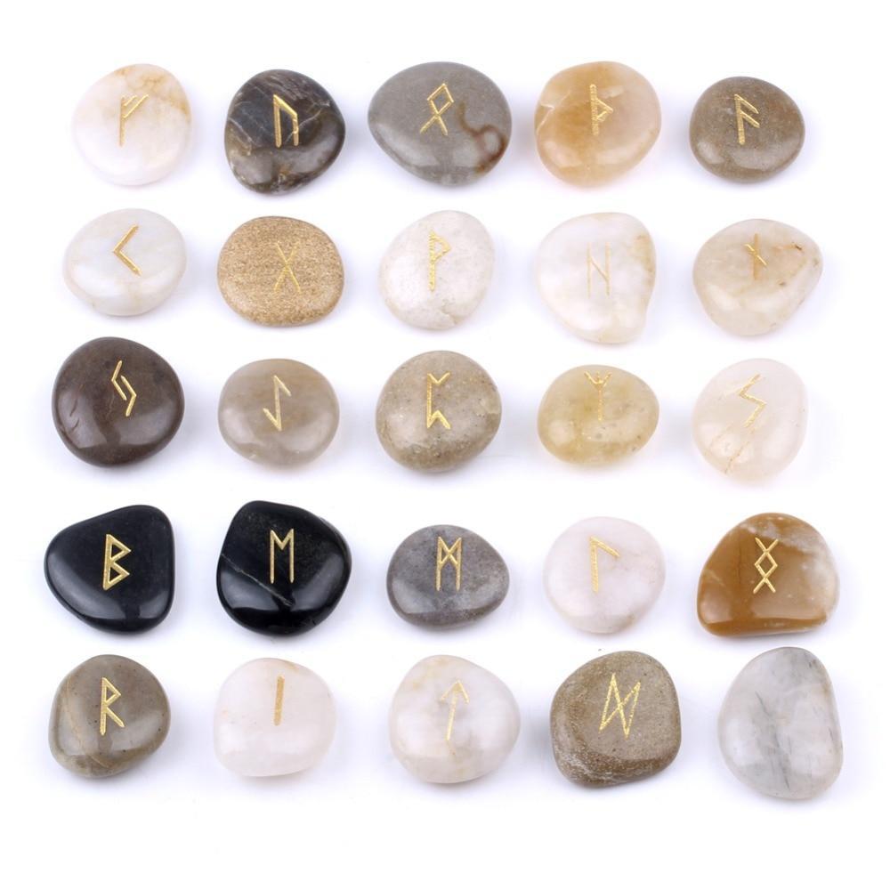 Natural Rune Stone Set