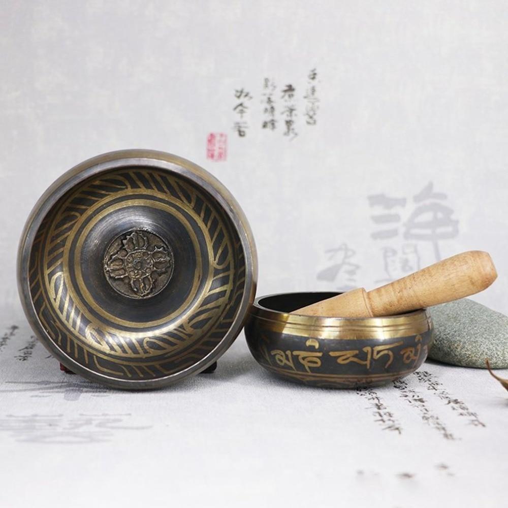 Engraved Tibetan Singing Prayer Bowl