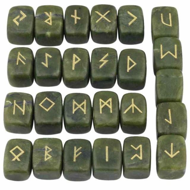 Green Rune Stone Set