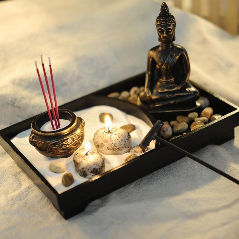 Buddha Statue Zen Garden Sand Meditation Set